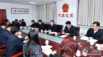 王东峰在石家庄市暗访检查