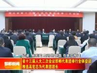 省十三届人大二次会议邯郸代表团举行全体会议 推选高宏志为代表团团长