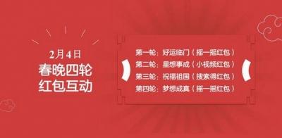 百度拿下2019央视春晚独家红包互动合作权,将发4轮红包