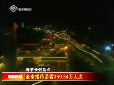 全市接待游客359.34万人次