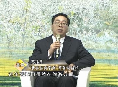 涉县县委常委、常务副县长蔡玮华做客大型高端对话访谈节目《慧眼看邯郸》