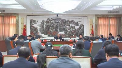 高宏志主持召开市委市政府乡村振兴澳门威尼斯人注册领导小组会议