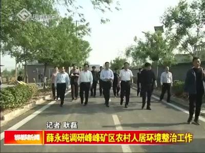 薛永纯调研峰峰矿区农村人居环境整治工作