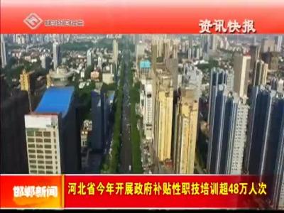 河北省今年开展政府补贴性职技培训超48万人次