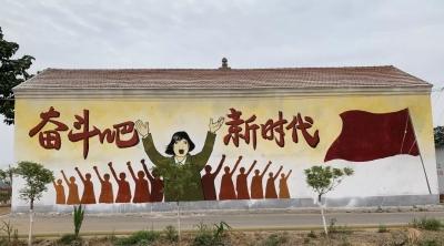 肥乡:当艺术墙绘遇上美丽乡村