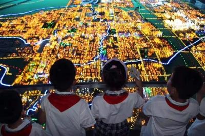 小學生參觀城市規劃展覽館,見證初心之旅