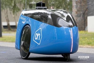 荷兰一超市推出送货机器人 支持APP下单方便快捷