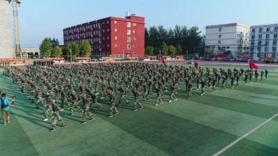 磁县滏滨中学 :军训结业式上的你们,超燃