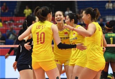 女排世界杯:中国队胜喀麦隆队