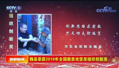 邯郸V视  魏县荣获2019年全国脱贫攻坚奖组织创新奖