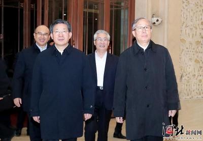 河北省党政代表团到天津市学习考察