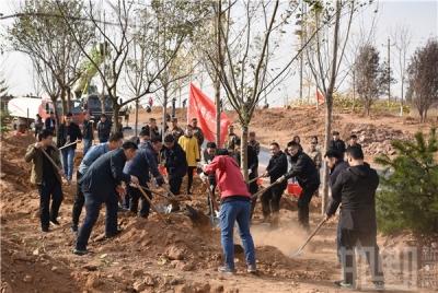 高宏志张维亮等四大班子领导参加秋冬季义务植树活动