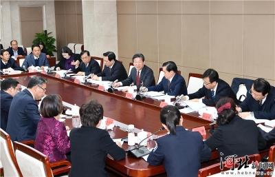 王东峰与部分人大代表座谈