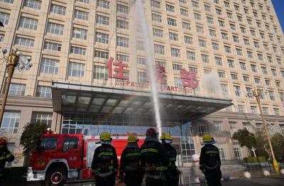 """邯郸市中心医院东区举办""""消防演练及疏散""""演练"""