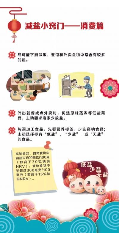 春节饮食减盐不减味,生活更健康