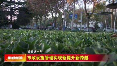 邯郸V视|【邯郸这一年】市政设施管理实现新提升新跨越