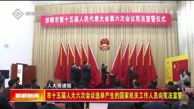 市十五届人大六次会议选举产生的国家机关工作人员向宪法宣誓