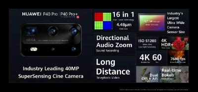 华为P40系列上市 手机影像技术再升级