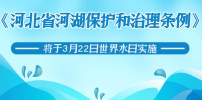 这8种行为禁止!河北省河湖保护和治理条例今日实施