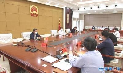 张维亮主持召开市政府各部门重点工作汇报会
