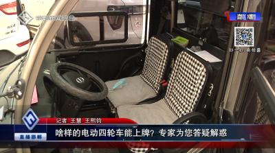 @邯郸人  你家的四轮电动车能上牌吗?