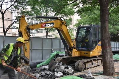 邯山区明怡街供水管线正式开工
