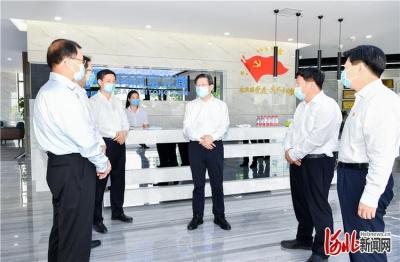 王东峰在唐山市遵化市调研检查