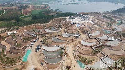 邯郸: 河北省第四届园林博览会工程进展顺利