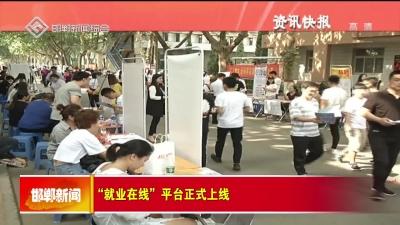 """""""就業在線""""平臺正式上線"""