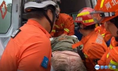 邯郸V视 | 女子爬山跌落山涧受伤严重 消防合力紧急救援