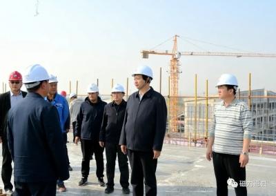 邯郸磁县县委书记张才芳到生活垃圾焚烧发电工程现场办公
