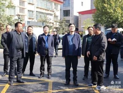 魏县政府县长高巍实地调研大气污染防治工作