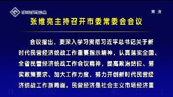 张维亮主持召开市委常委会会议