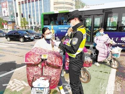 邯郸整治行人、非机动车逆行等突出问题