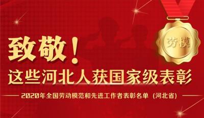 长图|致敬!河北98人获评全国劳动模范和先进工作者
