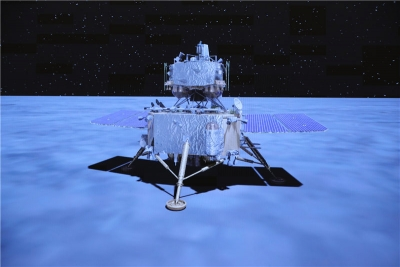 嫦娥五号探月|嫦娥五号探测器实施动力下降并成功着陆