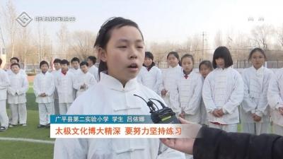 广平:太极进校园 文化传承润童心