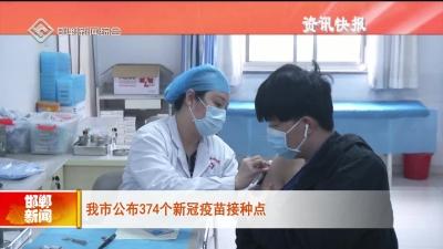 邯鄲市公布374個新冠疫苗接種點