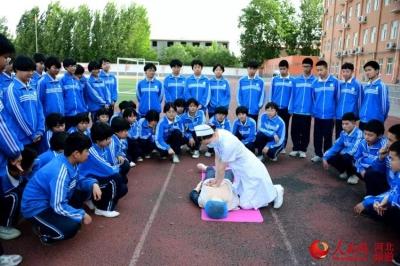 河北廣平:迎國際護士節 心肺複蘇急救知識進校園