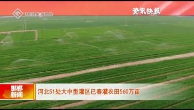 河北51處大中型灌區已春灌農田560萬畝