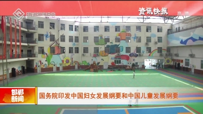 國務院印發中國婦女發展綱要和中國兒童發展綱要