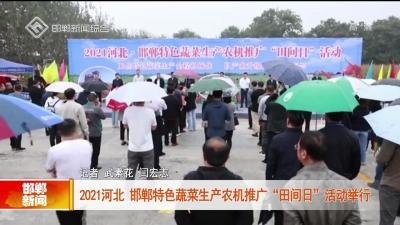 """2021河北·邯鄲特色蔬菜生產農機推廣""""田間日""""活動舉行"""