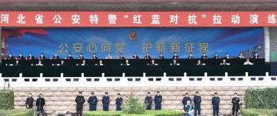 """王東峰在全省公安特警""""紅藍對抗""""拉動演練上強調:矢誌不渝做黨和人民的忠誠衛士"""