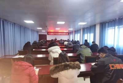 王维江到县广播电视台宣讲党的十九届五中全会精神